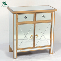 Mirrored furniture bedroom wooden drawer cabinet