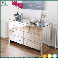 Venetian Mirrored 7 Drawer Chest of Drawers
