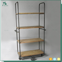 industrial metal rustic furniture storage with shelf