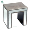 Clear Glass Mirrored Cube End Table