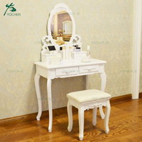 White bedroom furniture luxury make up table cheap dressing table