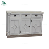 french Shabby Sideboards wooden doors design living room cabinet