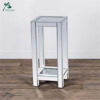 Pair of modern mirrored venetian glass side table