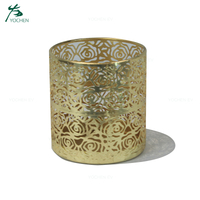 Wholesale Table Houseware Decoration Gold Decorative Metal Candle Holder