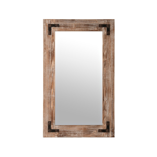 Living room wall antique wood mirror frame mirrors decor wall