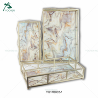 home decor metal marble serving tray
