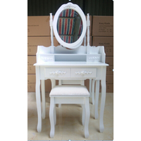 Cheap Modern Dressing Table With Mirror And Stool