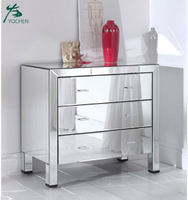 Home Furniture 3 Drawer Of Chest Mirror Cheap White Cabinet