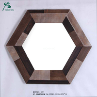 Wood decorative wall cheap fancy mirror decoration wall mirror