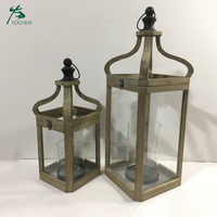 Handcraft Candlestick Home Decorative Wooden Lantern