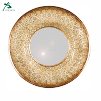 Luxury decoration wall round european vintage mirror frame