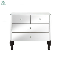 Mirrored 2 + 2 Drawer Chest For Living Room