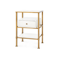 bedroom furniture gold drawer storage cabinet bedside table night stand