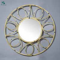 Old Decorative Mirrors in Wrought Iron Bathroom Round Living Mirrors