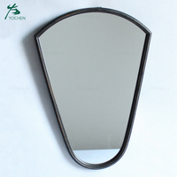 wall art decorative black metal mirror home decor