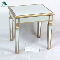 mirrored living room coffee table modern wooden end table