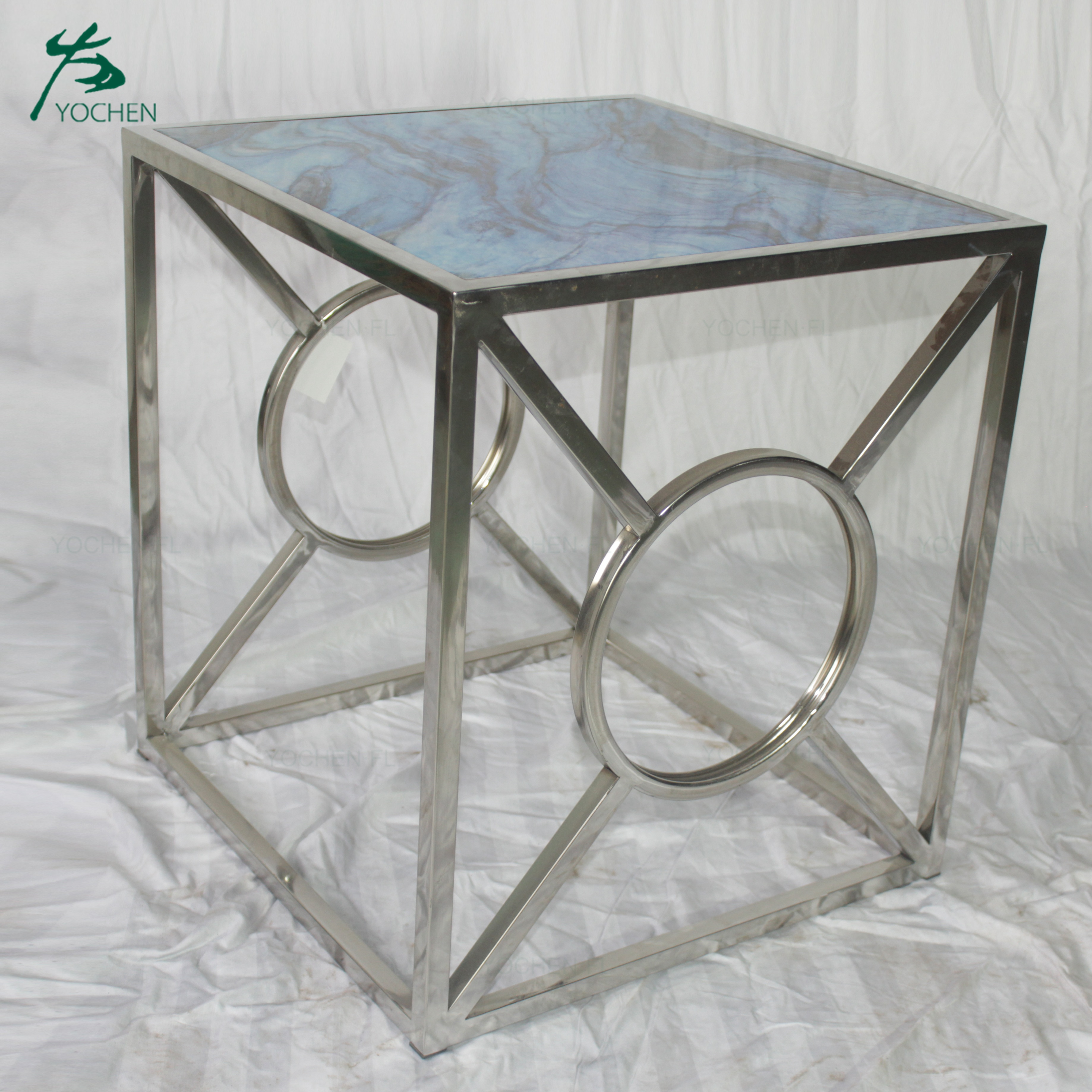 luxury living room coffee table shining color Chinese designer coffee table