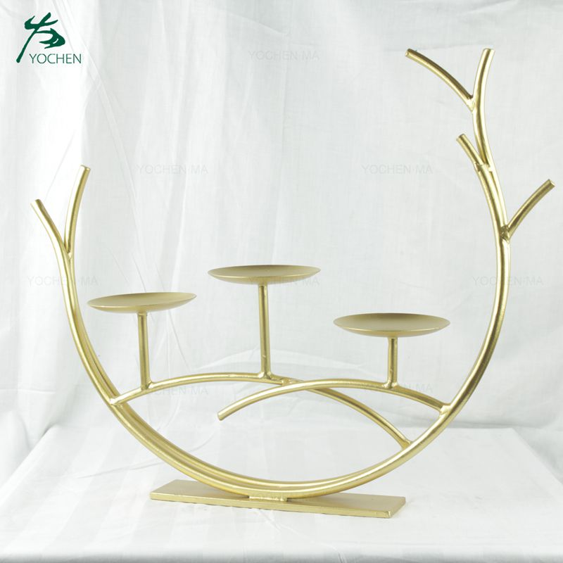 Hot selling metal candle holder for home decor and wedding