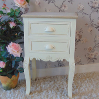 wholesale furniture elegant white antique french bedside table