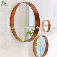 Round Wall Overmantle Metal Antique Style Mirrors