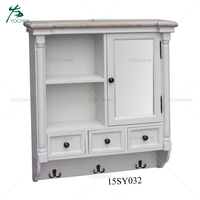 Small storage wood wall mounted cabinet