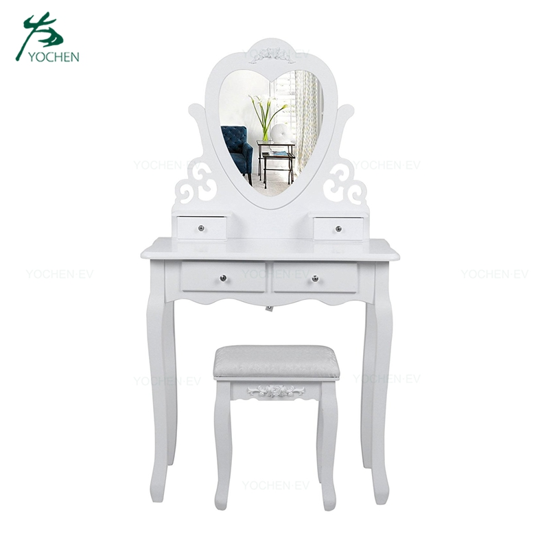 Modern White Simple Wooden Dressing Table