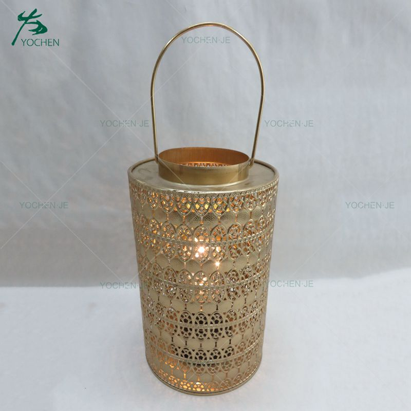 Simple design home decorative metal rectangle candle holder