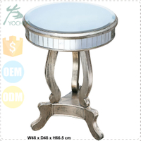 cheap round bedside table mirrored furniture wholesale
