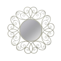 Antique shabby chic metal decorative mirror