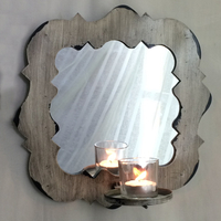 Antique wooden modern wall candle holder