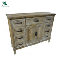 Farmhouse Style Vintage Buffet Cabinet Wooden Sideboard