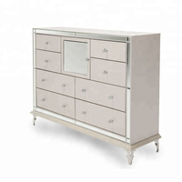Bedroom mirrored dresser chest wooden dressing table