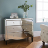 vanity set home goods mirrored dressing table with mirror and stool