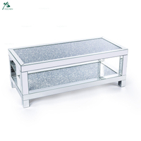 Home Furniture Hot-sale Diamond Crush Mirrored Coffee Table
