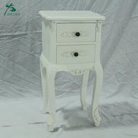 furniture rococo bedside table wooden cabinet white nightstand