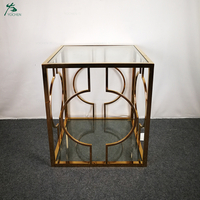 European style coffee table fancy marble or glass top and metal leg coffee table