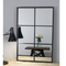 Black Metal Frame Industrial Window Mirror