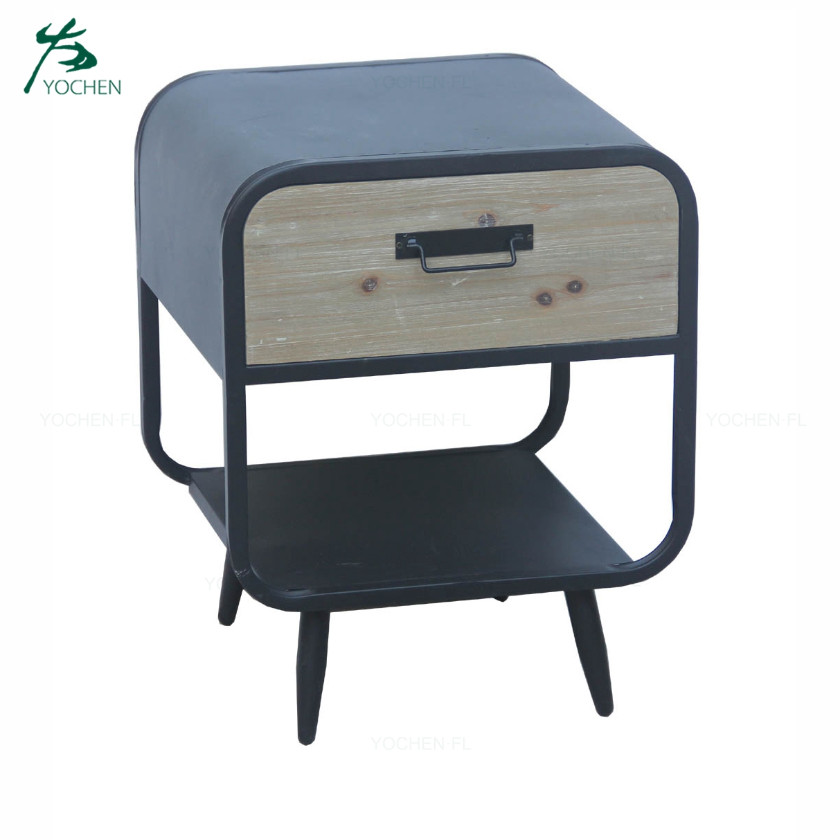 living room cabinet metal black frame wooden movable cabinet