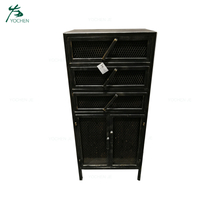 Modern Black Metal Industrial Style Chest of Drawers