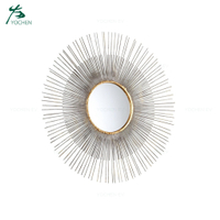 Sunburst Metal Wall Antique Mirror Frame