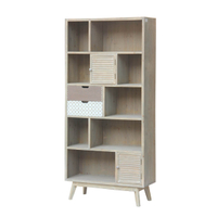 Solid wood book shelf storage wooden cabinet
