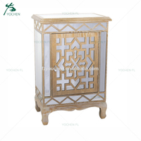 wholesale storage antique glass mirrored cabinet