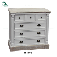 Wooden Furniture Antique Wooden Cabinet White Chest of Drawers