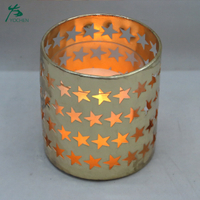 Metal Star Pattern Candle Holders For Home Decoration Pieces