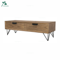 industrial living room furniture TV stand with drawer