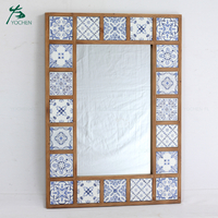 shabby chic home decor decorative wooden frame wall mirror